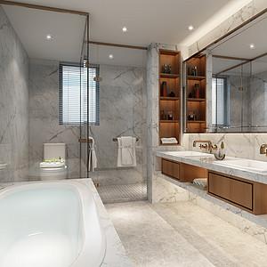 卫生间现代轻奢装修效果图-第28页 西安其他卫生间装饰效果图 西安其