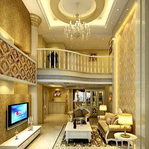 百合花园 欧式新古典 客厅