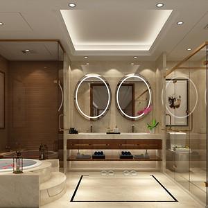 美式古典风格卫生间