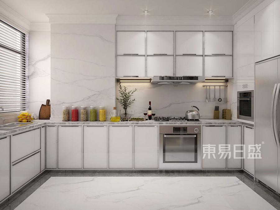 170㎡别墅装修 简欧风格 厨房装修效果图