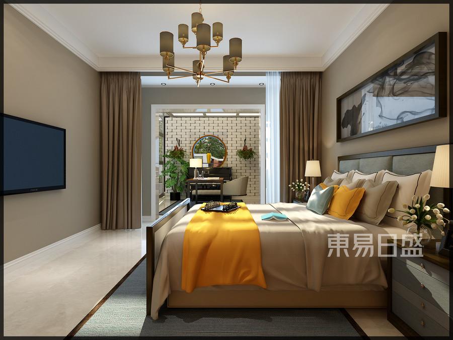清华大溪地现代典雅风格卧室