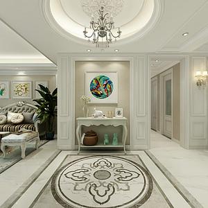 三居室-欧式风格-效果图