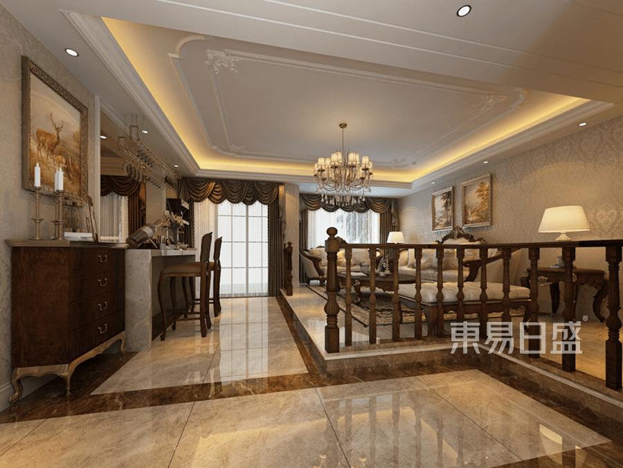 欧式古典风格会客厅装修设计