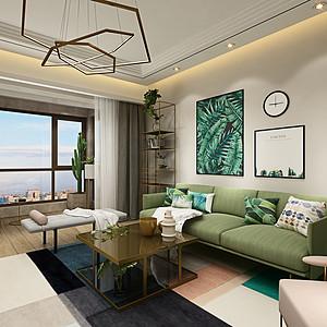 银基王朝都市自然风格157㎡三室两厅