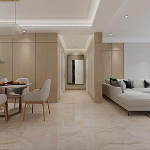 现代简约风格-走廊-装修效果图