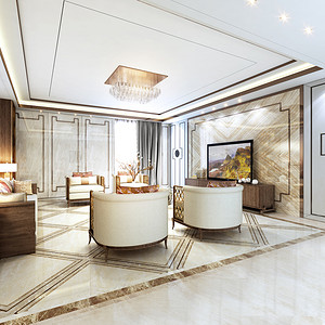 世贸公寓-210平米-新中式