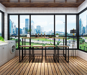 现代风格阳台