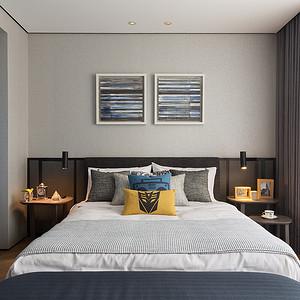 五一绿洲-台式-卧室实景