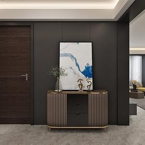 四居室-现代简约-玄关-效果图