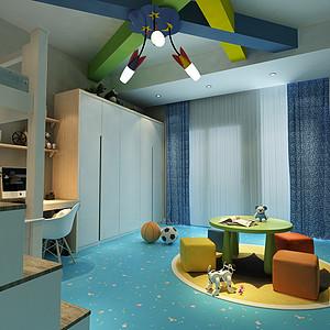 宏远御庭山复式-新中式风格儿童房
