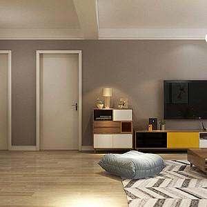 北欧风格-客厅-装修效果图