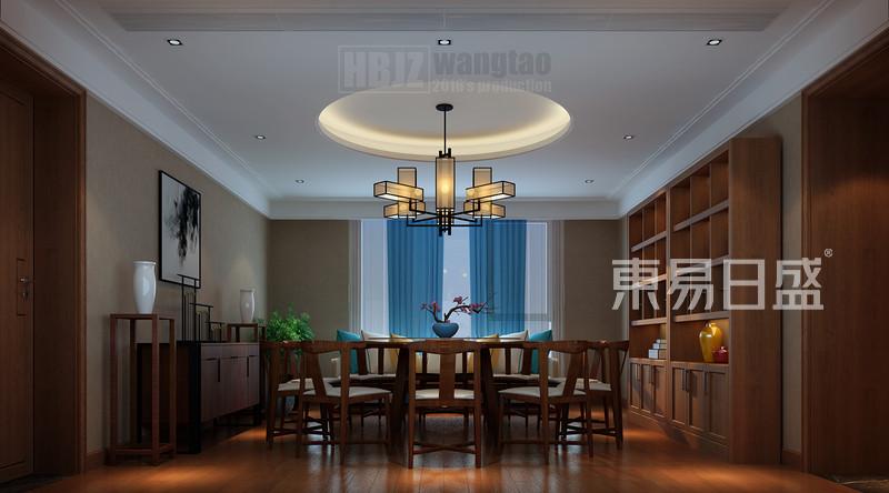 新中式 - 顶面圆顶与餐桌呼应