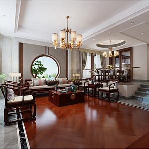 湘潭逸墅庄园280平新中式风格别墅