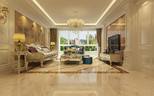 盛邦大都会-三居室-新古典风格设计赏析