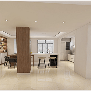 南滨特区100 m²现代简约装修效果图