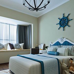 卧室效果图-地中海式