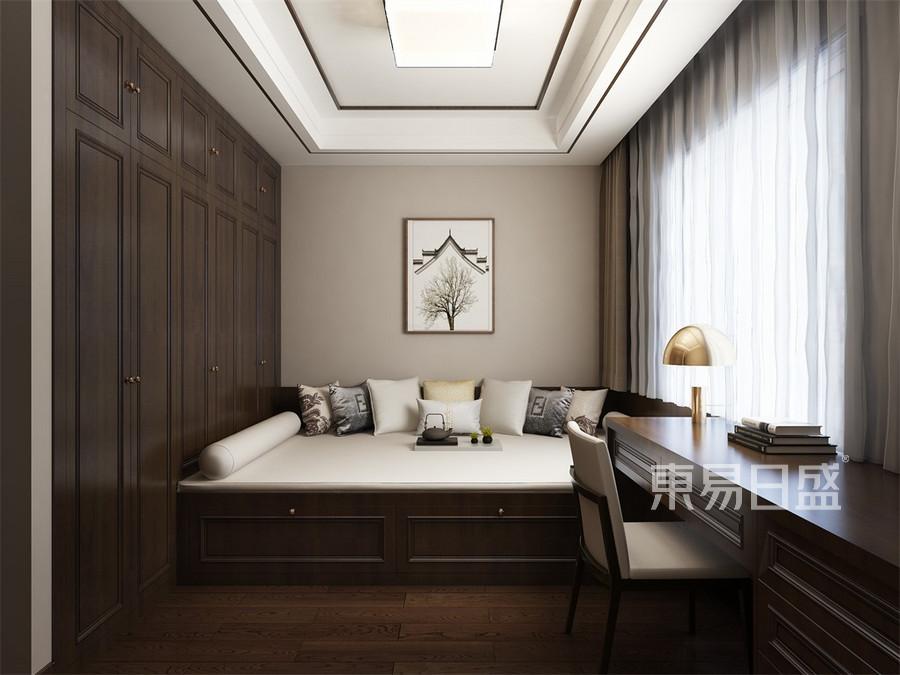 四居室-新中式-次卧榻榻米-效果图