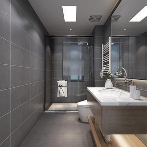 新中式风格装修效果图-卫生间