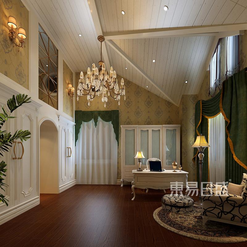 欧式古典 - 欧式风格装修效果图-书房