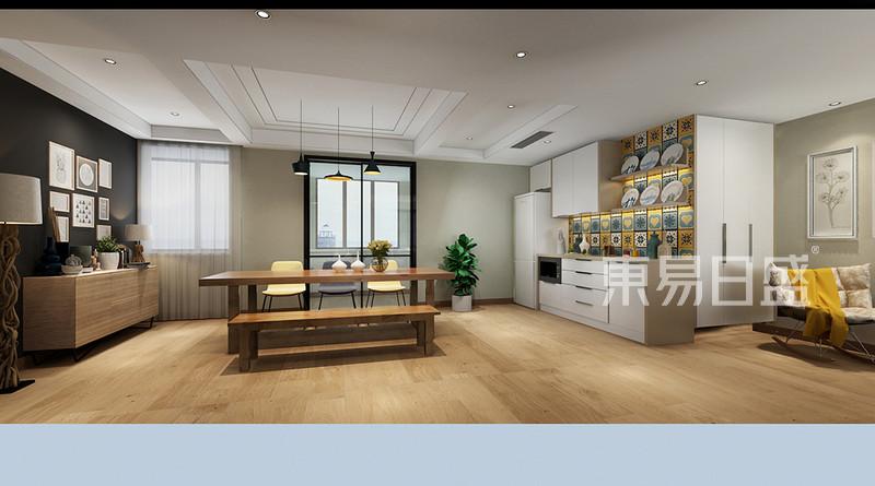 绿地世纪城 现代装修效果图 三室二厅 180㎡