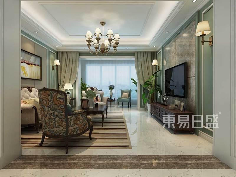 客厅简单的线条创造出曲线的美感