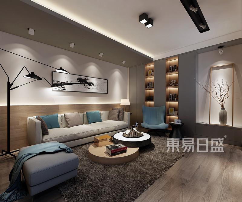 北欧风格客厅沙发背景墙效果图_装修效果图大全2018