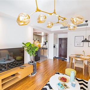 格兰星辰83平米北欧风格三室两厅一厨一卫
