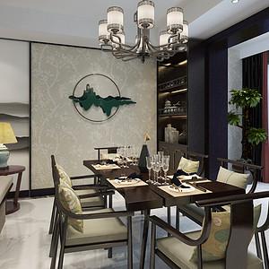 兰州小西湖83.2平米新中式风格餐厅