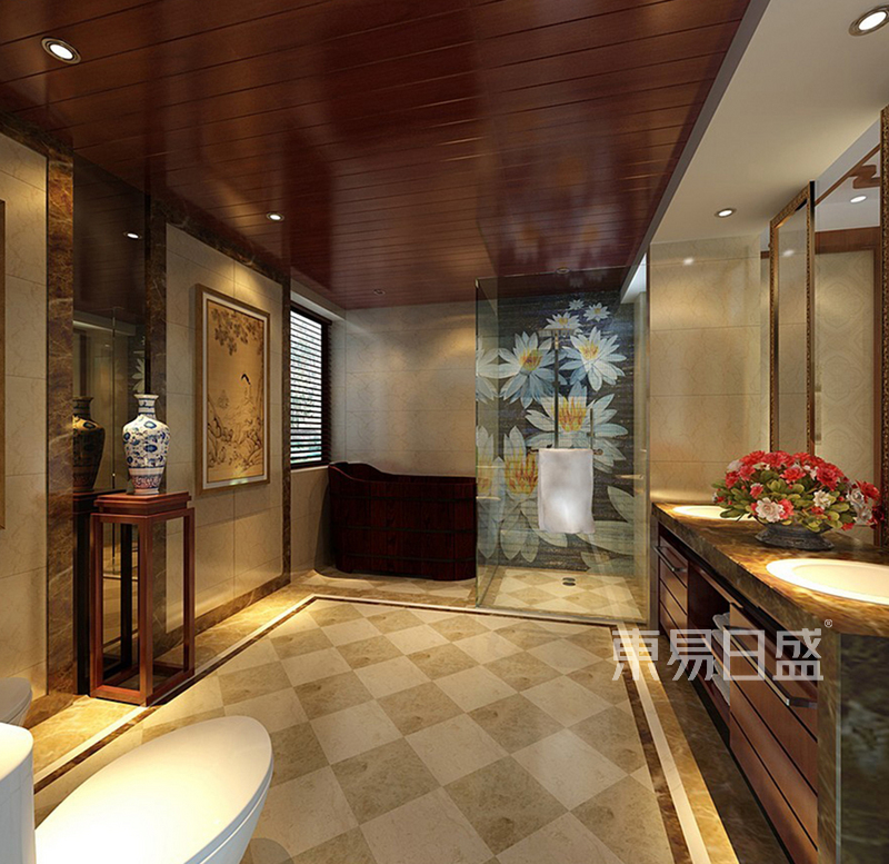 中式 洗手间效果图_装修效果图大全2018图片 1082910
