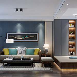 北欧风格客厅沙发背景墙