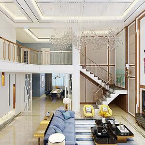 自建别墅北欧风格客厅装修效果图