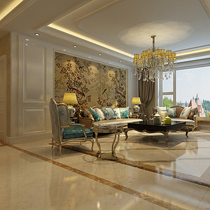 维多利亚小区199平米四室二厅欧式风格装修效果