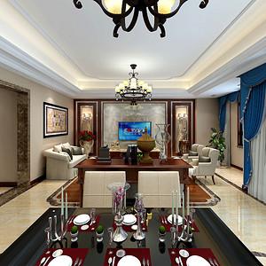 九台别墅美式风格装修效果图