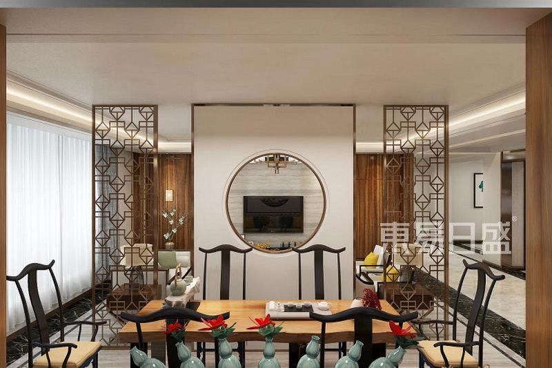新中式-书房-普通住宅装修效果图-中信花园 新中式 210平 装修效果图