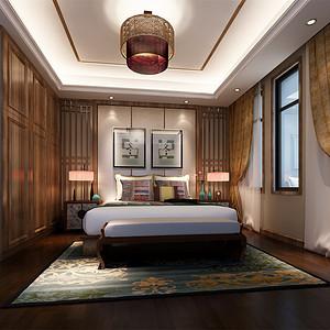 柏悦澜庭340㎡中式装修风格卧室