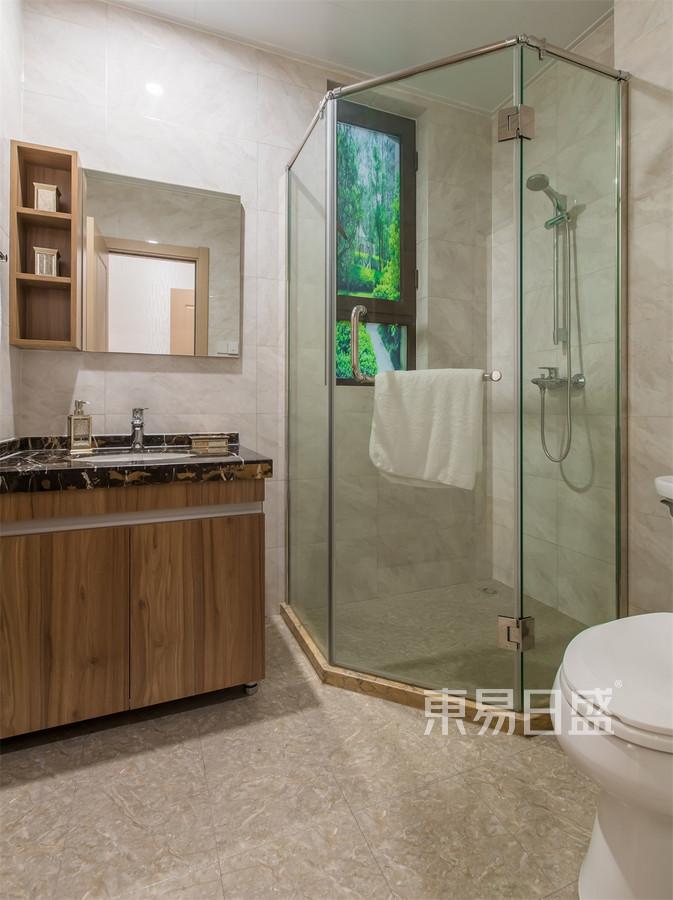 普通住宅-轻奢-卫生间-效果图