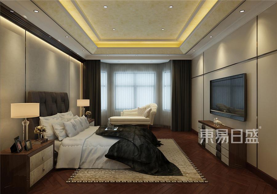中海八里台新中式风格卧室装修效果图