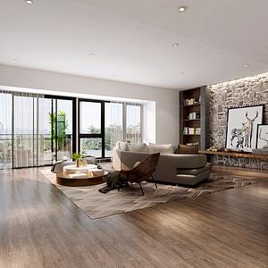 香山美墅 现代简约风格 180平米 三房两厅 装修效果图