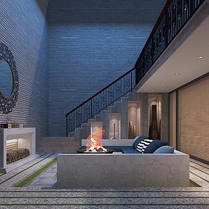滇池ONE600㎡别墅法式混搭风格装修案例