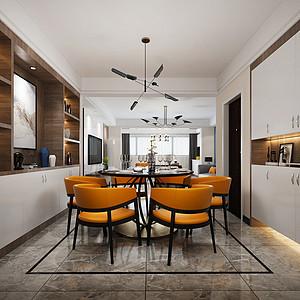 凤岗康湖山庄装修案例-150㎡现代风格三房二厅装修效果图