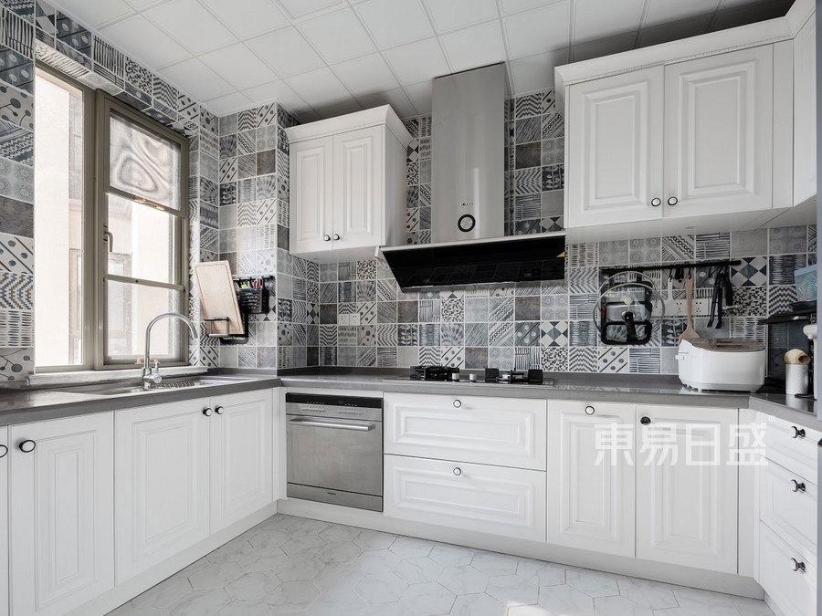160㎡四居室装修 美式风格 厨房装修效果图
