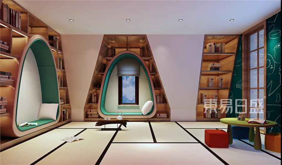 中海八里台新中式风格阁楼装修效果图