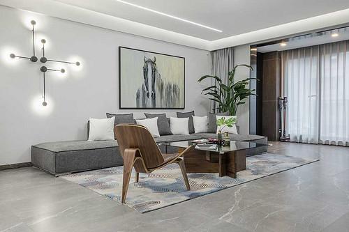 浐灞领馆一号 现代简约风格装修实景图 240平米 五室两厅一厨三卫
