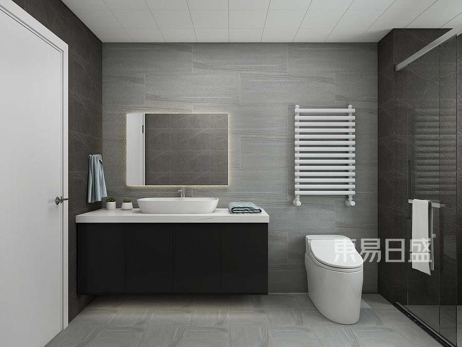 鲁商首府-现代简约装修设计案例-卫生间装修效果图
