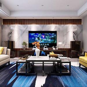 国金华府 现代简约装修效果图 四室二厅三卫 212平米