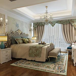 世茂之西湖欧式古典风格卧室效果图