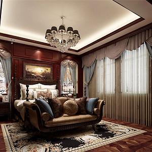复地御钟山350m²美式装修风格卧室