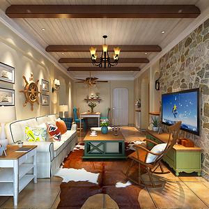 翠湖天地地中海风格120平公寓
