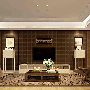 现代风格装修案例—客厅