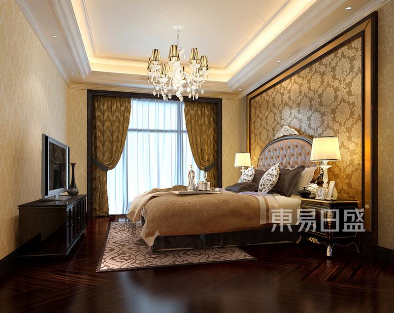 海逸豪庭别墅欧式卧室装修效果图